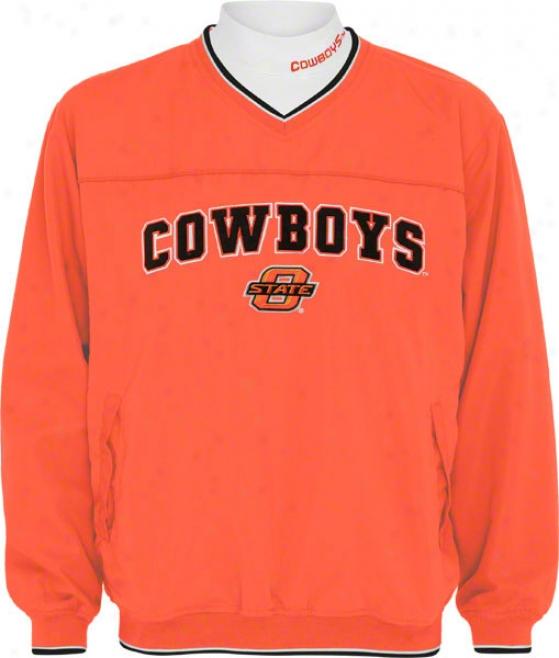 Oklahoma State Cowboys Windshirt/long Sleeve Mockneck Combo Pack
