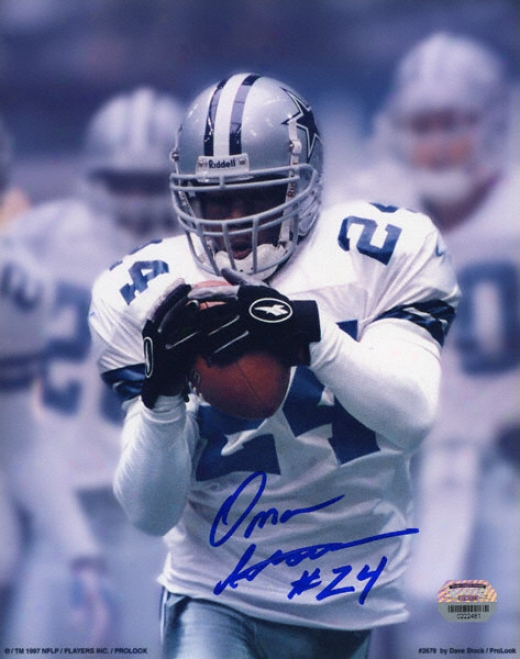Omar Stoutmire Dallas Cowboys 8x10 Autographed Photograph