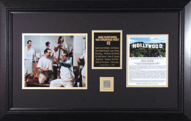 One Flew Ove5 The Cuckoos Nest - Cast - Framed 8x10 Photograph With Piece Of Hollywood Prodigy