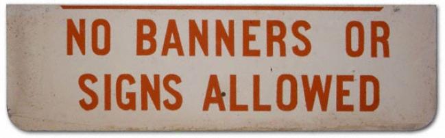 Orange Bowl Stadium No Flag Sign