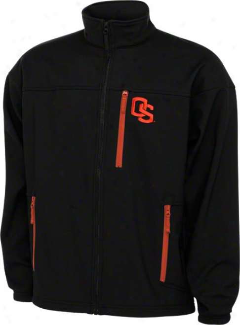 Oregon State Beavers Black Columbia Produce 'em 6 Softshell Jacket