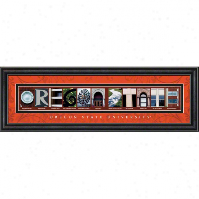 Oregon State Beavers Letter Art