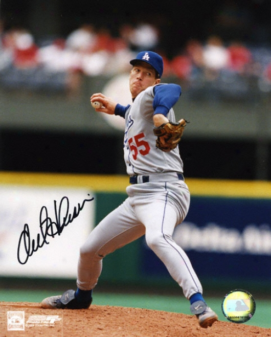 Orel Hershiser Los Angeles Dodgers Autographed 8x10 Photograph
