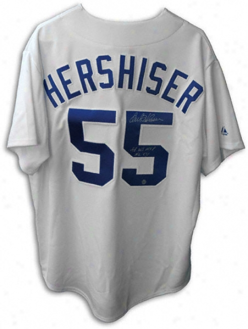 Orel Hershiser Ls Angeles Dodgers Autographed Jersey