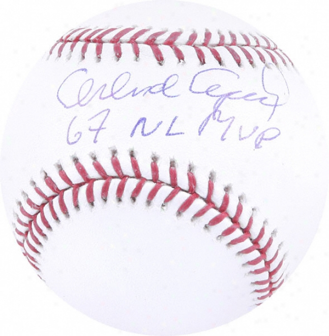 Orlando Cepeda Autographed Baseball  Details: 67 Nl Mvp Inscription