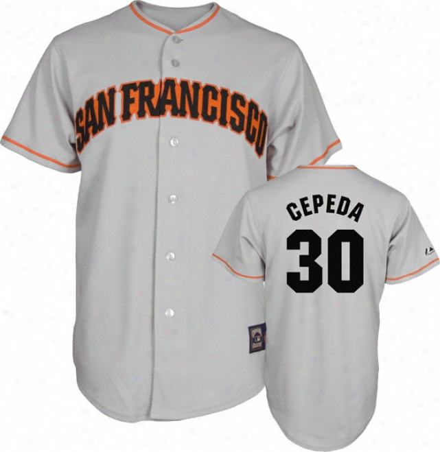 Orlando Cepeda Mwjestic Cooperstown Throwback San Francisco Giants Jersey