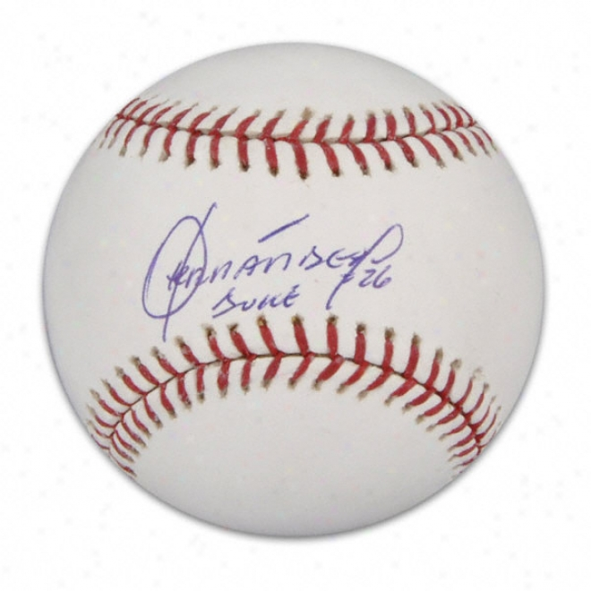 Orlando Hernandez New York Mets Autographed Mlb Baseball