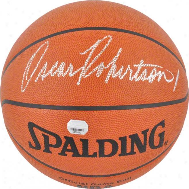 Oscar Robertson Autographed Basketball  Details: Official Spalding Basketball