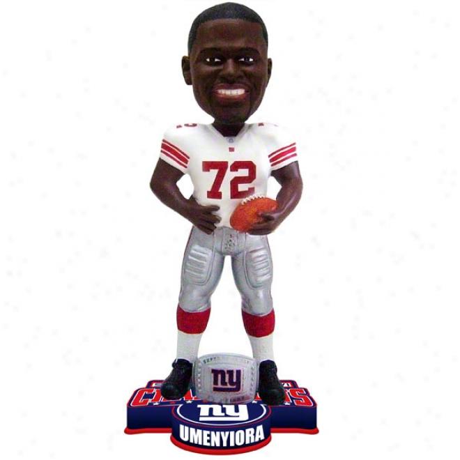 Osi Umenyiora #72 New York Giants Super Bowl Xlvi Champions Ring Bobble Head