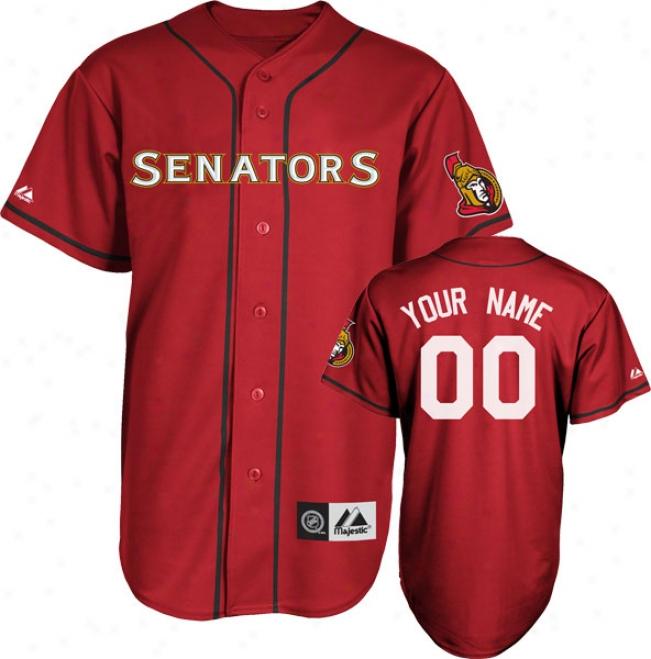 Ottawa Senators Jersey: Scarlet Customizable Nhl Replica Baseball Jersey