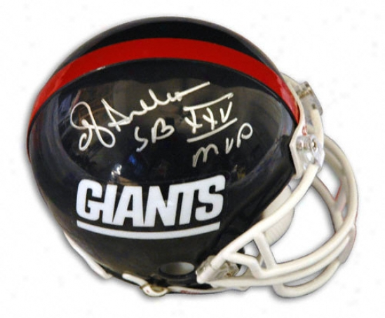 Ottis ''oj'' Anderson New York Giants Autographed Replica Helmet With ''sb Xxv Mvp'' Inscription