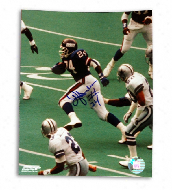 Ottis ''oj'' Anderson New York Giants -vs Dallas- 8x10 Autographed Photograph
