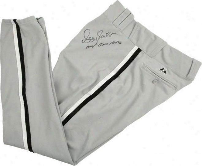 Ozzie Guillen Chicago White Sox Autographed 2004 Game Worn Grey Pants W/''2004 Game Worn'' Inscription