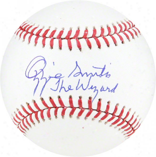 Ozzie Smith Autogrpahed Baseball  Details: The Wizard Inscription