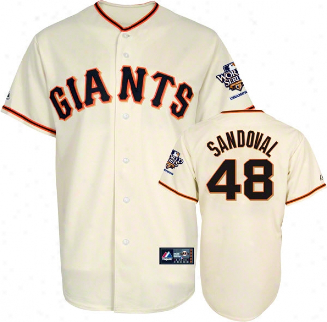 Pablo Sandoval Jersey: San Francisco Giants #48 Home Replica Jersey With 2010 World Series Champs Patch