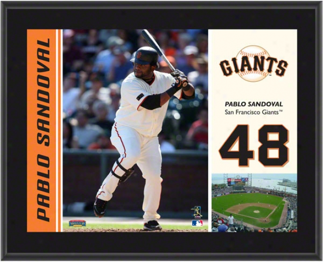 Pablo Sandoval Plaque  Details: San Francisco Giants, Sublijated, 10x13, Mlb Plaque