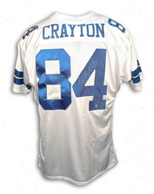 Patrick Crayton Autographed Dallas Cowboys White Throwback Jersey