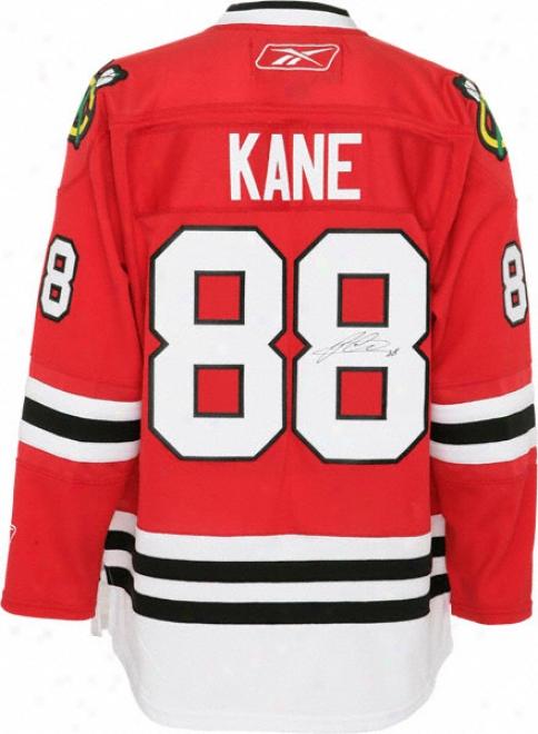 Patrick Kane Autographed Jersey  Details: Chicago Blackhawks, Ccm Premier