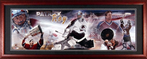 Patrick Roy Colorado Avalanche Framed Unsigned Panoramic Photograph