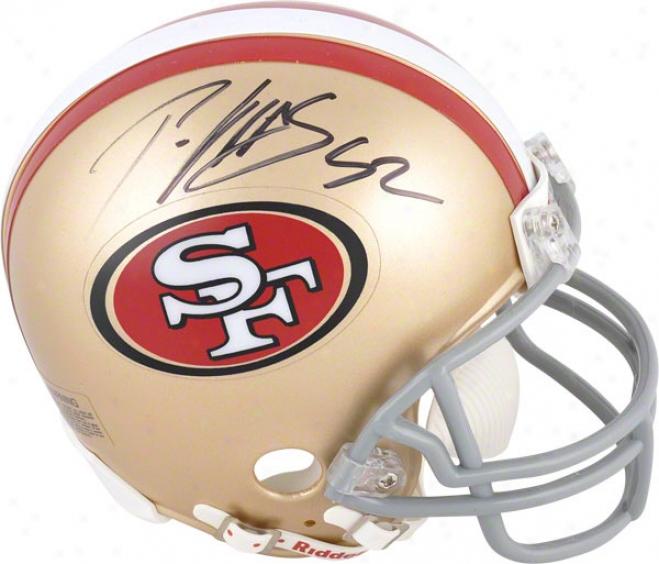 Patrick Willis Autographed Mini Helmet  Details: San Francisco 49ers