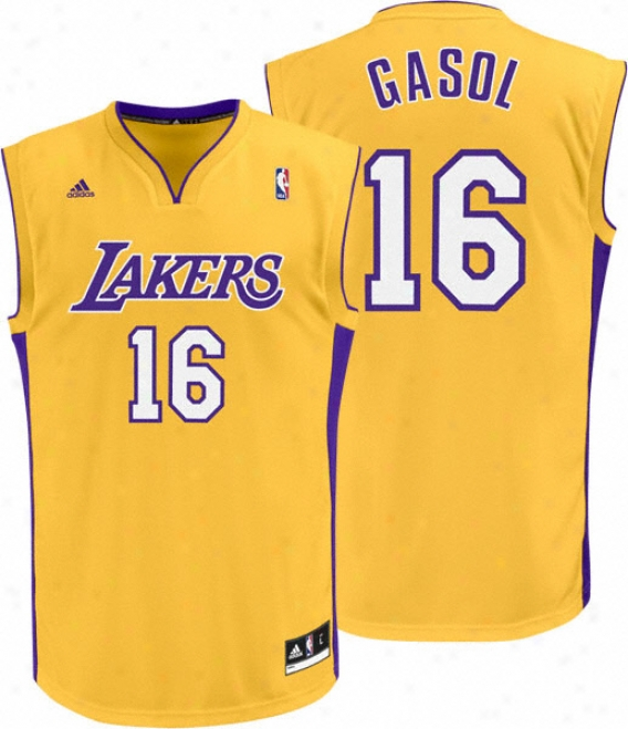 Pau Gasol Jersey: Adidas Revolution 30 Gopd Replica #16 Los Angeles Lakers Jersey