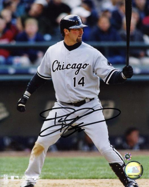 Paul Konerko Chicago White Sox -grey Uniform- 8x10 Autographed Photogrzph