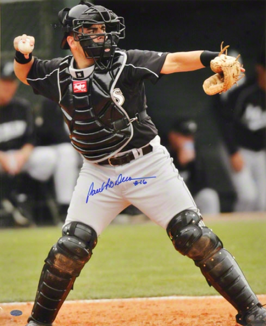 Paul Lo Duca Miami Marlins - Catching - 16x20 Autographed Photograph