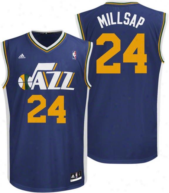 Paul Millsap Jersey: Adidas Revolution 30 Replica #24 Utah Jazz Jersey