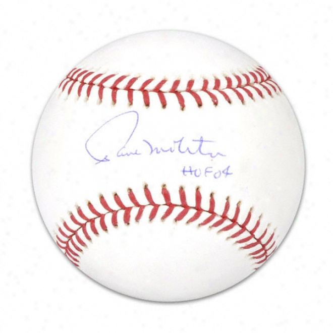 Paul Molitor Autographed Baseball  Particulars: Hof 04 Ibscription