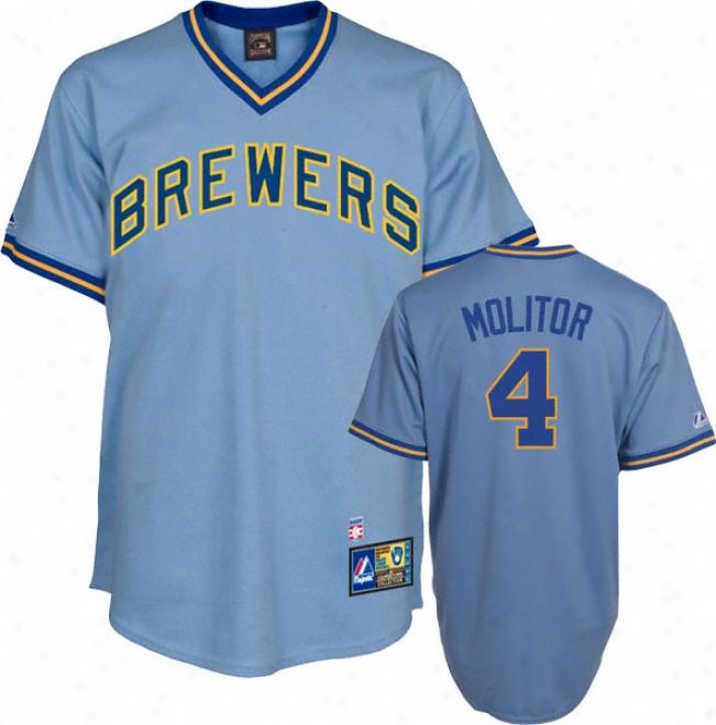 Paul Molitor Milwaukee Brewers Cooperstown Replica Jersey