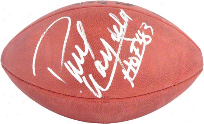 Paul Warfield Autographed Football  Details: Pro Fiotball With Hall Of Fame 1983 Inscripyion