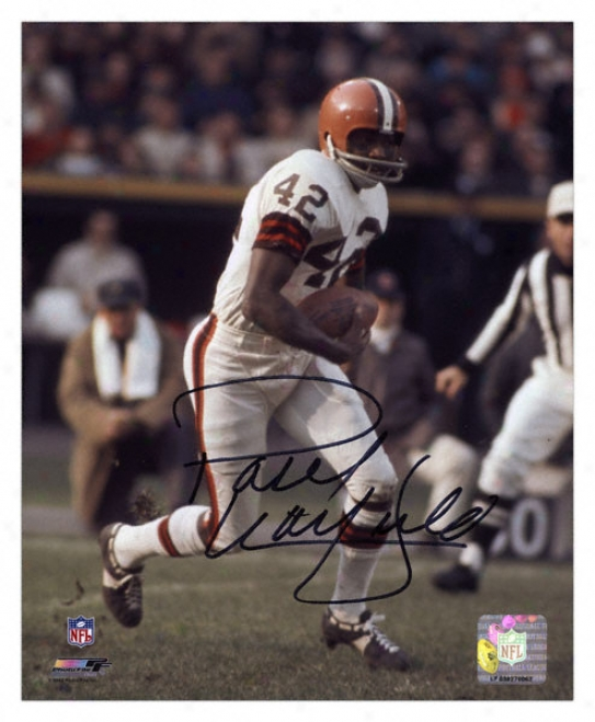 Paul Warfield Cleveland Browns - Running With Ball - Autographed 8x10 Photovraph