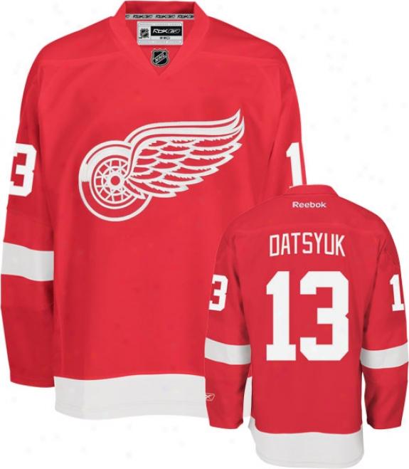 Pavel Datsyuk Jersey: Reebok Red #13 Detroit Red Wings Premier Jersey