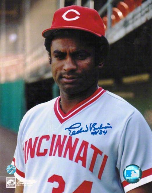 Pedro Borbon Cincinnati Reds Autographed 8x10 Photo Pose