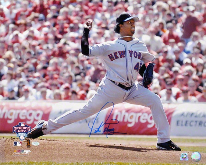 Pedro Martinez Novel York Mets Autographed 16x20 Photo