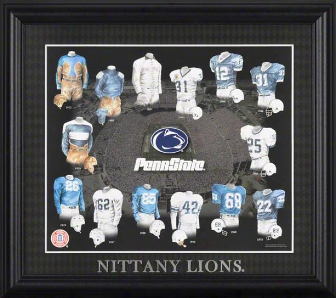 Penn State Nittany Lions 13x15 Framed Print  Details: Evolution