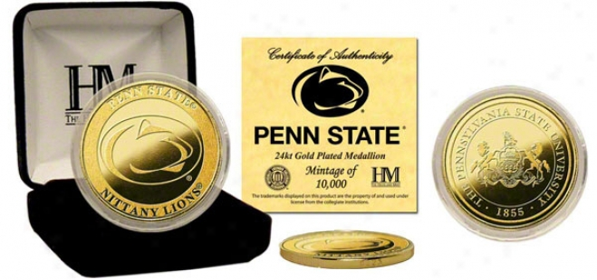 Penn State Nittany Lions 24kt Gold Coin