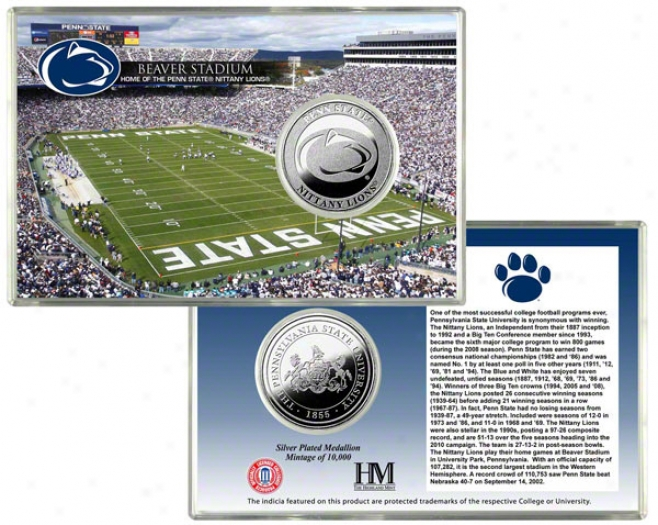 Penn State Nittany Lions Beaver Stadium Silver Coin Card