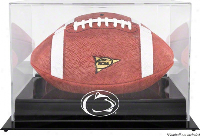 Penn State Nittany Lions Black Base Logo Football Display Case
