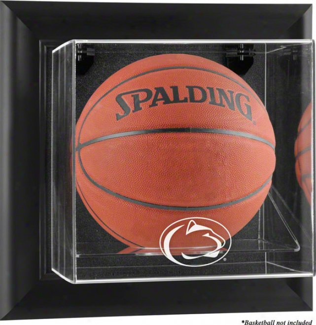 Pnen State Nittany Lions Framed Logo Wall Mountqble Basketball Display Case