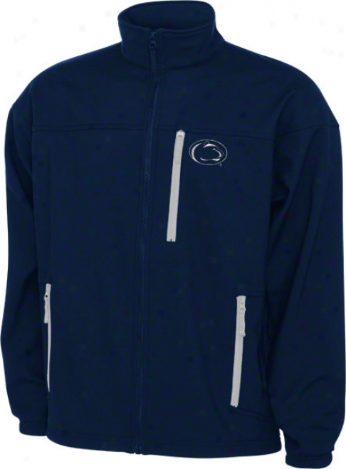 Penn State Nittany Lions Navy Columbia Give 'em 6 Softshell Jacket