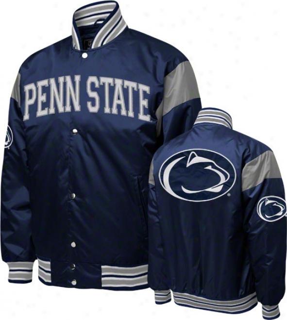 Penn State Nittany Lions Navy Nylon Satin Jacket