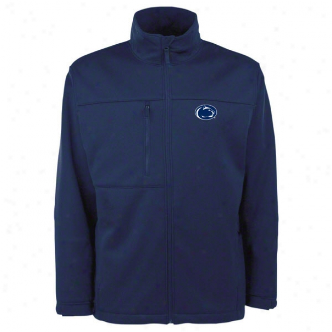 Penn Commonwealth Nittany Lions Navy Traverse Bonded Soft Shell Jacket