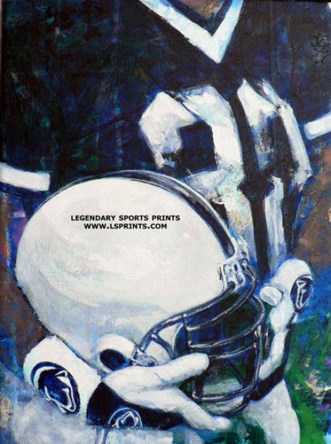 Penn State Nittany Lions - &quotpsu Helmet Series&quot - Large - Unframed Giclee