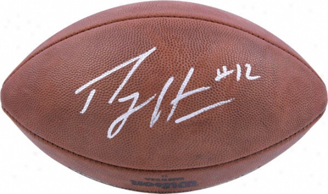 Percy Harvin Autographed Football  Details: Minnesota Vikings