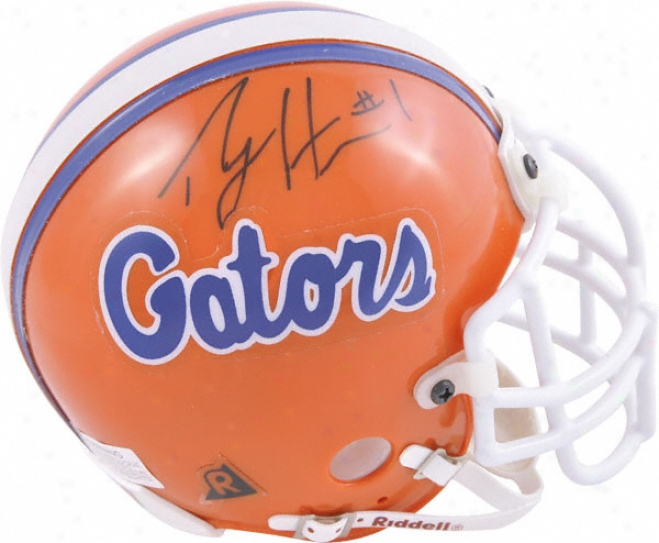 Percy Harvin Florida Gators Autographed Mini Helmet