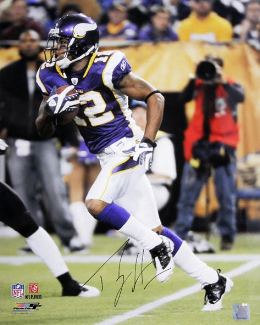 Percy Harvin Minnesota Vikings Autographed 16x20 Photograph