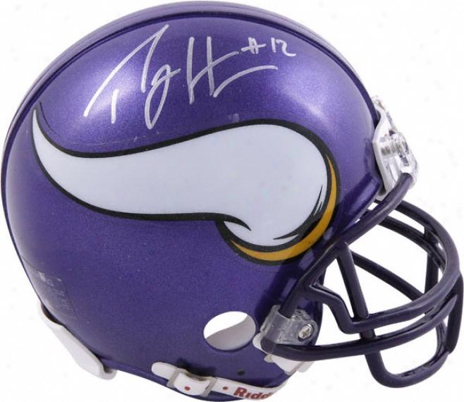 Percy Harvin Minnesota Vikings Autographed Mini Helm