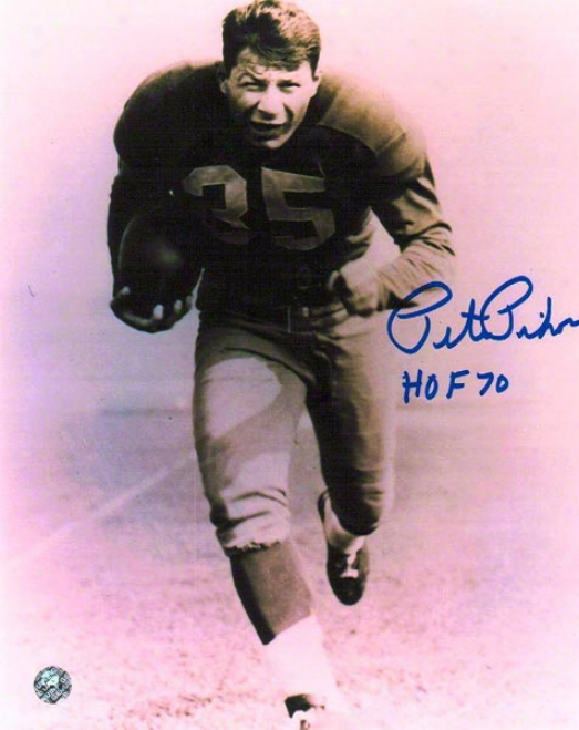 Pete Pihos Autographed Philadelphia Eagles 8x10 Inscribed &quothof 70&quot