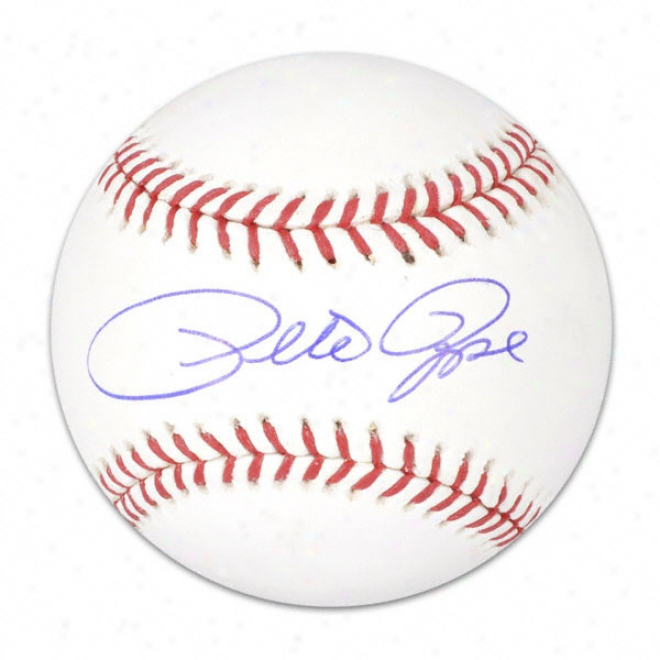 Pete Rose Autographed Baseball